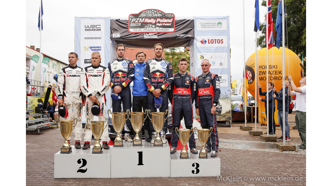 Podium - Rallye Polen 2016