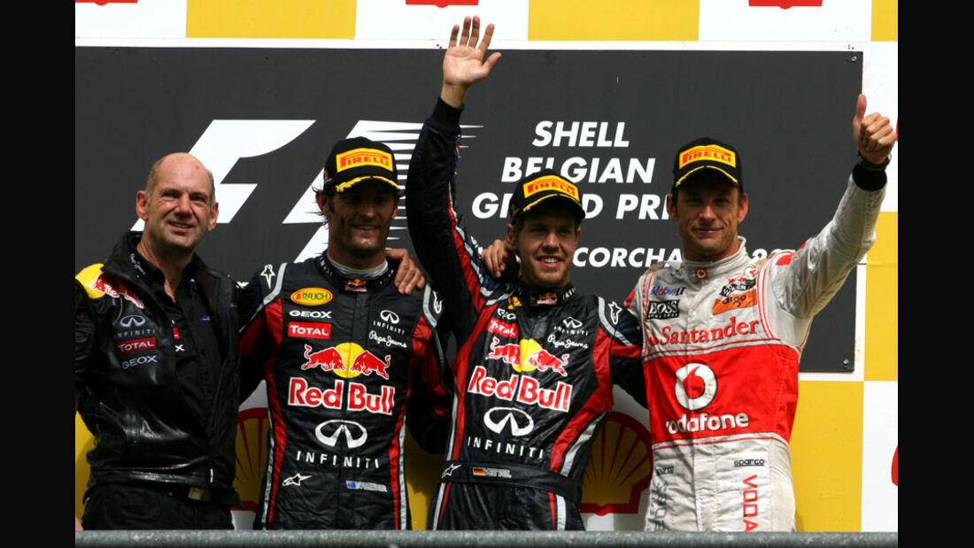 Podium Rennen GP Belgien 2011