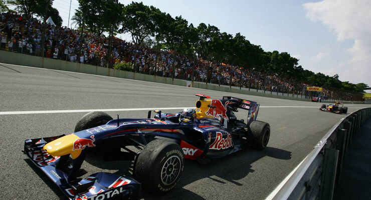 Podium Vettel Webber GP Brasilien 2010