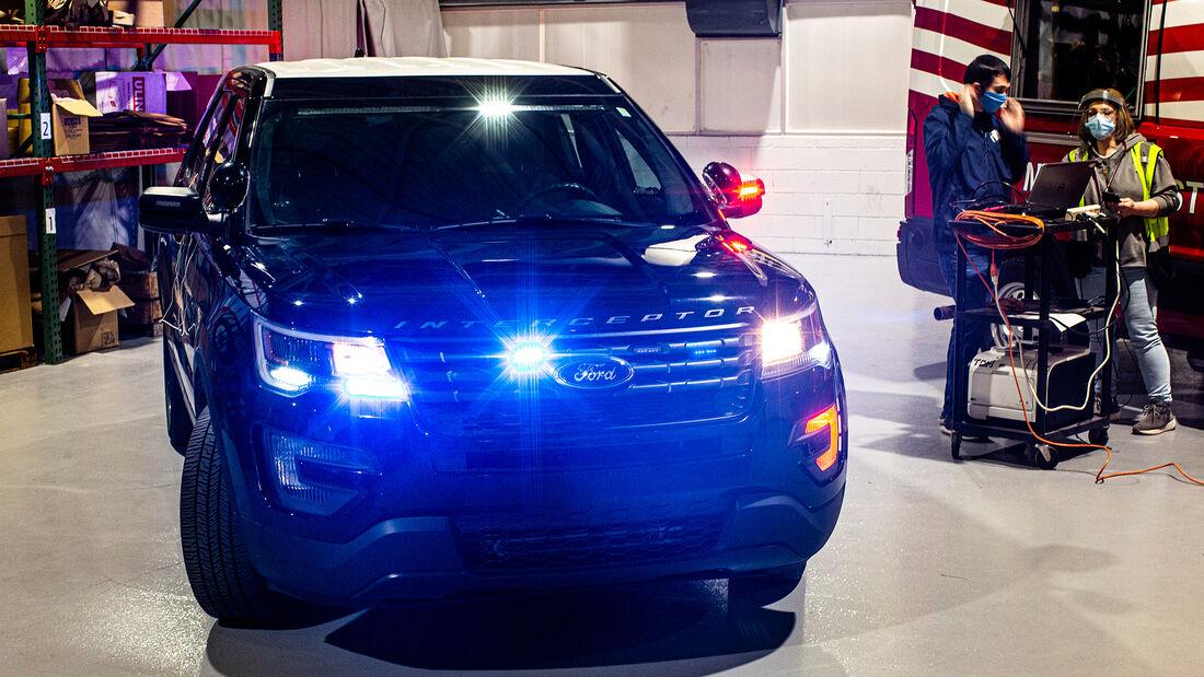 Police Interceptor Utility Vehicle with Sanitization Software