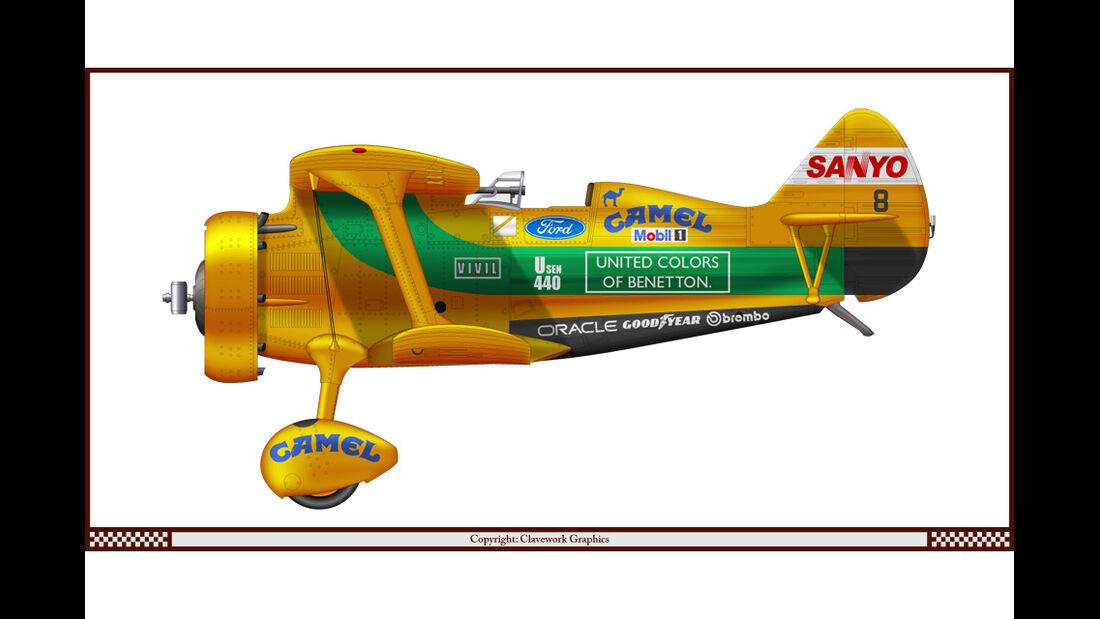 Polikarpov I-15 - Benetton - Racing-Planes - 2015