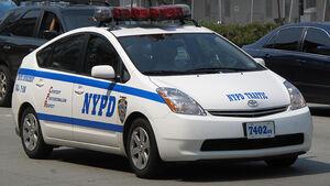 Polizei und Taxis in New York