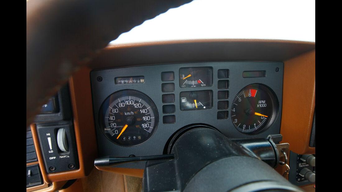 Pontiac Fiero GT, Rundinstrumente, Tacho