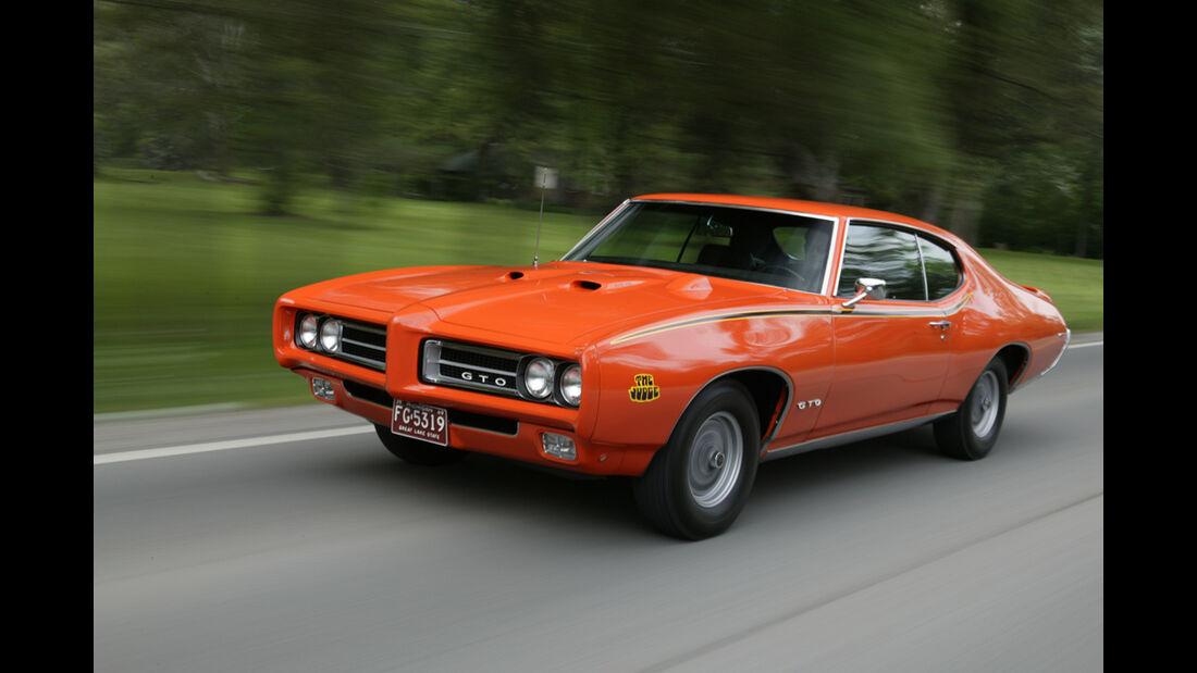 Pontiac GTO The Judge in Fahrt Frontansicht
