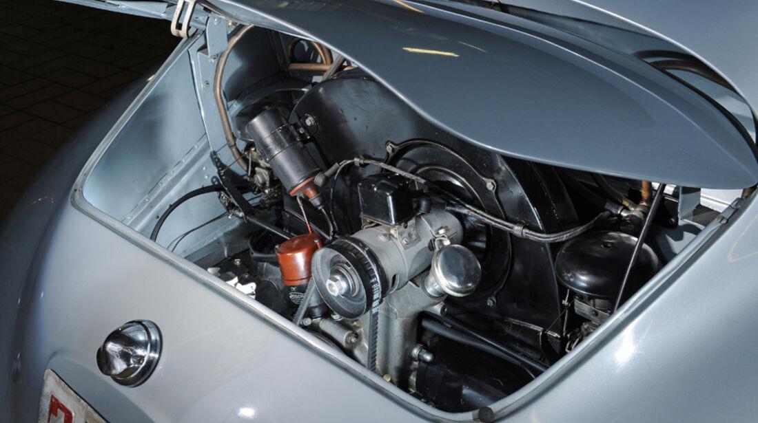 Porsche 356/2-004, Motorraum, Motor