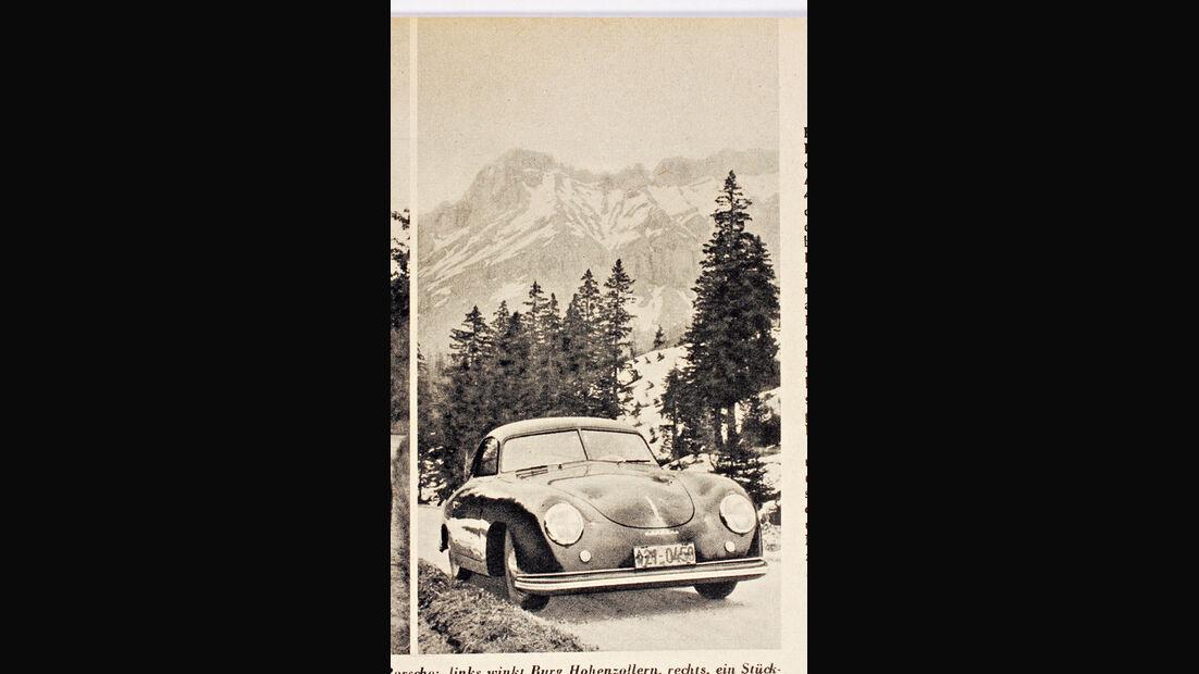 Porsche 356, Frontansicht, Berge, Col de Pillon