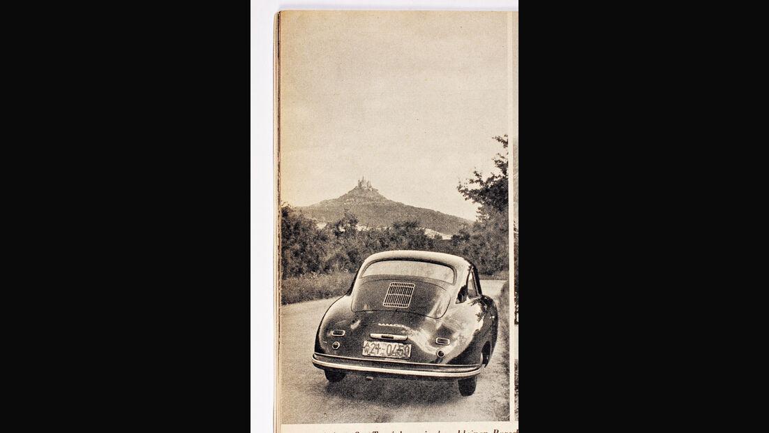 Porsche 356, Rückansicht, Burg Hohenzollern