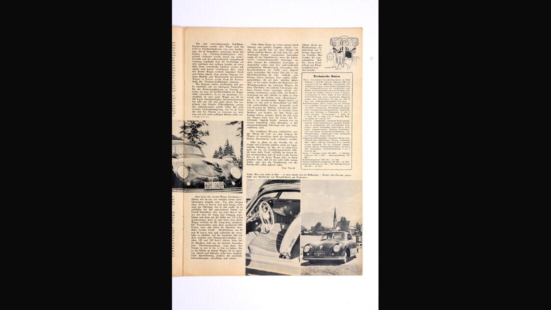 Porsche 356, Zeitungsausschnitt