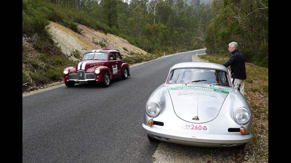 Porsche 356 bei der Targa Tasmania