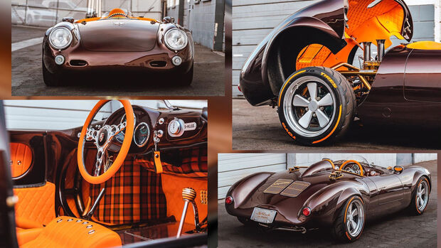 Porsche 550 Spyder Replika Vintage Motorcars Collage