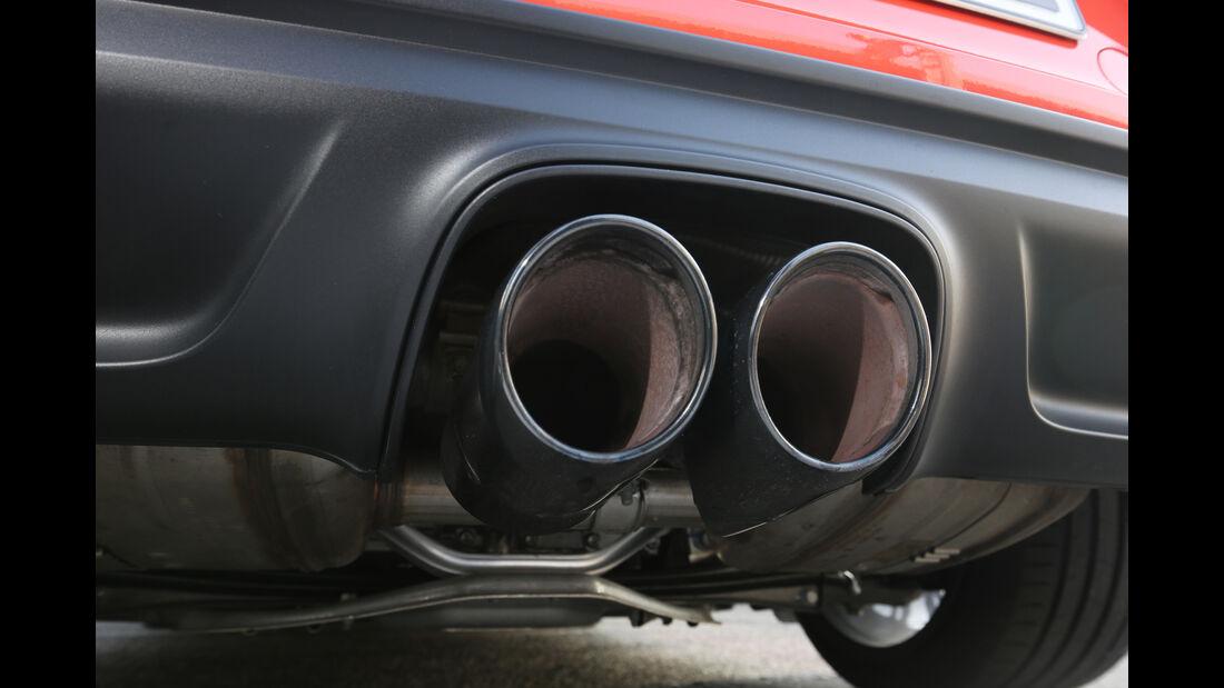 Porsche 718 Boxster S, Endrohre