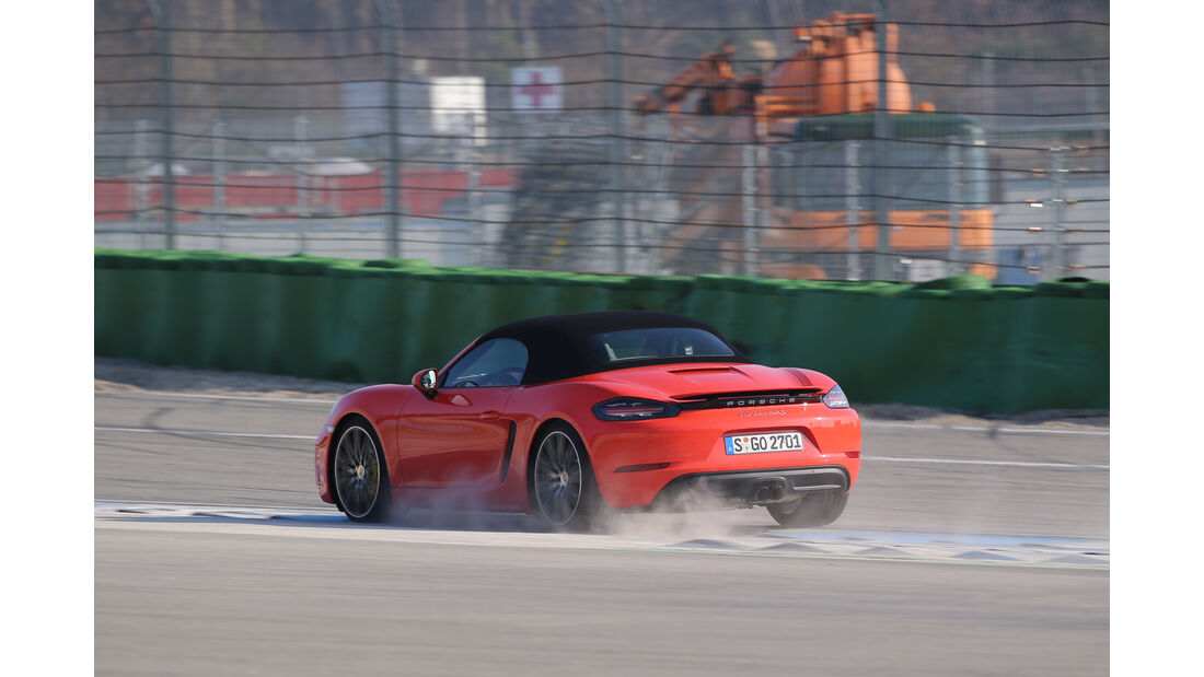 Porsche 718 Boxster S, Heckansicht