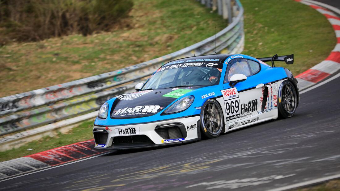 Porsche 718 Cayman GT4 CS - Startnummer #969 - Mühlner Motorsport SPRL - Cup3 - NLS 2021 - Langstreckenmeisterschaft - Nürburgring - Nordschleife
