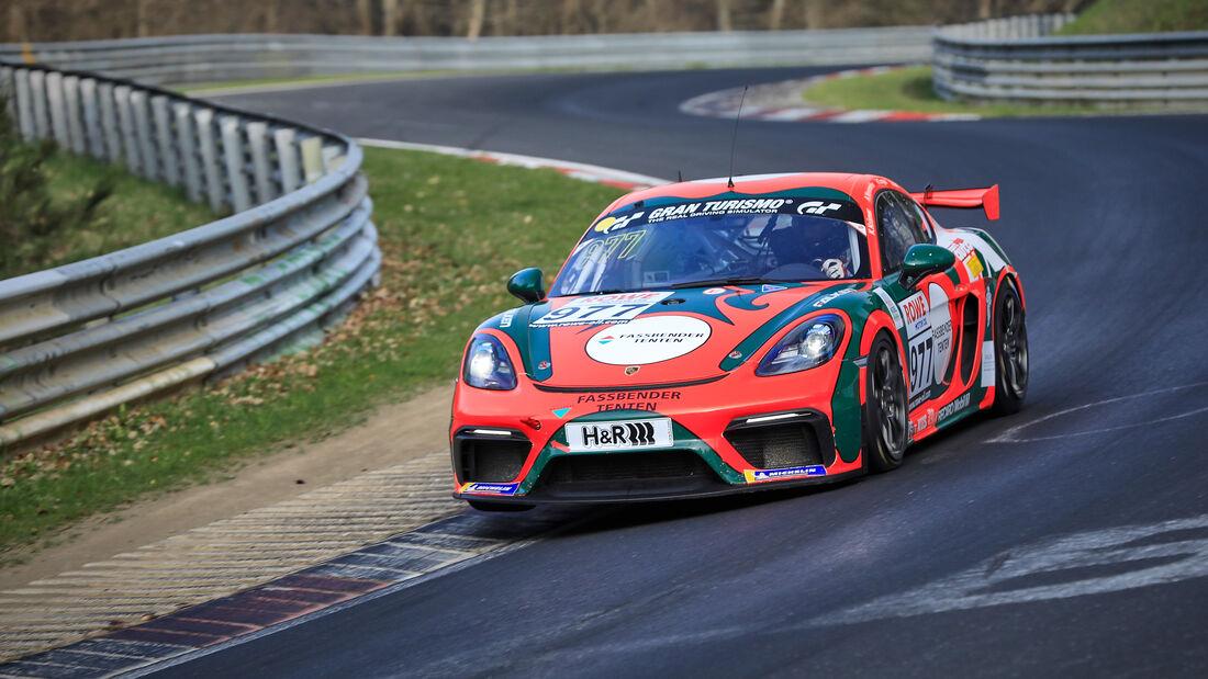 Porsche 718 Cayman GT4 CS - Startnummer #977 - KKrämer Racing - Cup3 - NLS 2021 - Langstreckenmeisterschaft - Nürburgring - Nordschleife