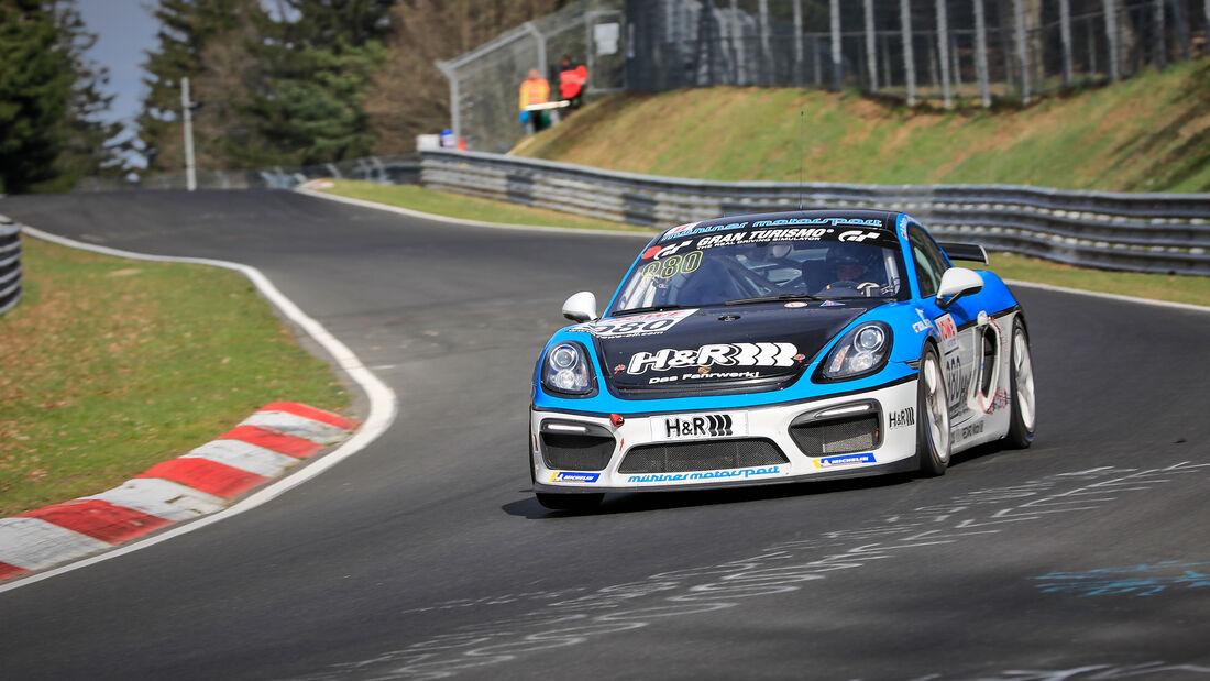 Porsche 718 Cayman GT4 CS - Startnummer #980 - Mühlner Motorsport SPRL - Cup3 - NLS 2021 - Langstreckenmeisterschaft - Nürburgring - Nordschleife