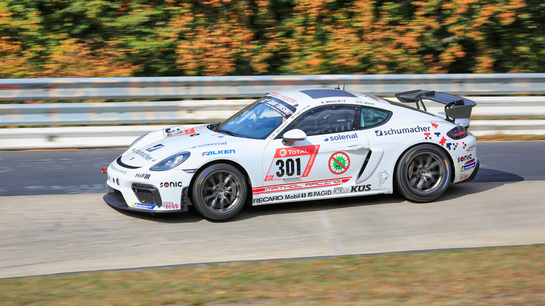 Porsche 718 Cayman GT4 CS - Team Mathol Racing e.V. - Startnummer #301 - Klasse: Cup 3 - 24h-Rennen - Nürburgring - Nordschleife - 24. bis 27. September 2020