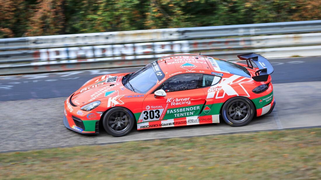 Porsche 718 Cayman GT4 - KKrämer Racing - Startnummer #303 - Klasse: Cup 3 - 24h-Rennen - Nürburgring - Nordschleife - 24. bis 27. September 2020