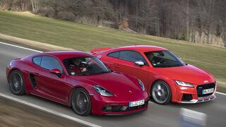 Porsche 718 Cayman GTS, Audi TT RS, Exterieur