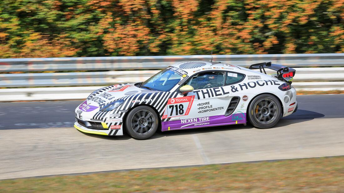 Porsche 718 Cayman GTS - Startnummer #718 - Klasse: SP 4T - 24h-Rennen - Nürburgring - Nordschleife - 24. bis 27. September 2020