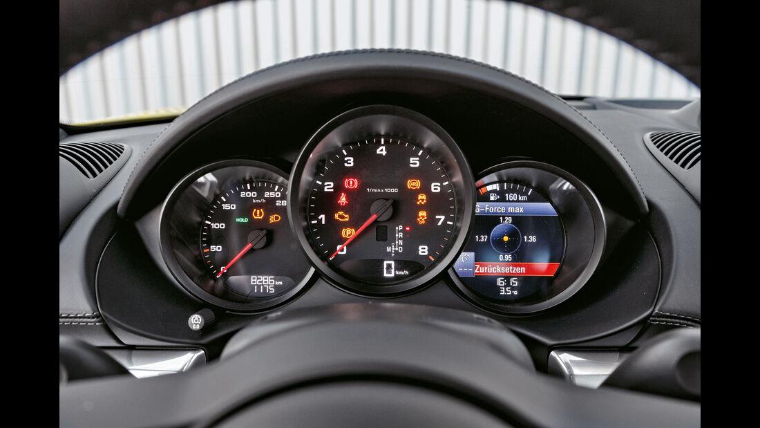 Porsche 718 Cayman, Rundinstrumente