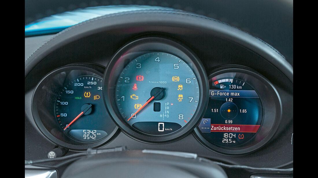 Porsche 718 Cayman S, Anzeigeinstrumente