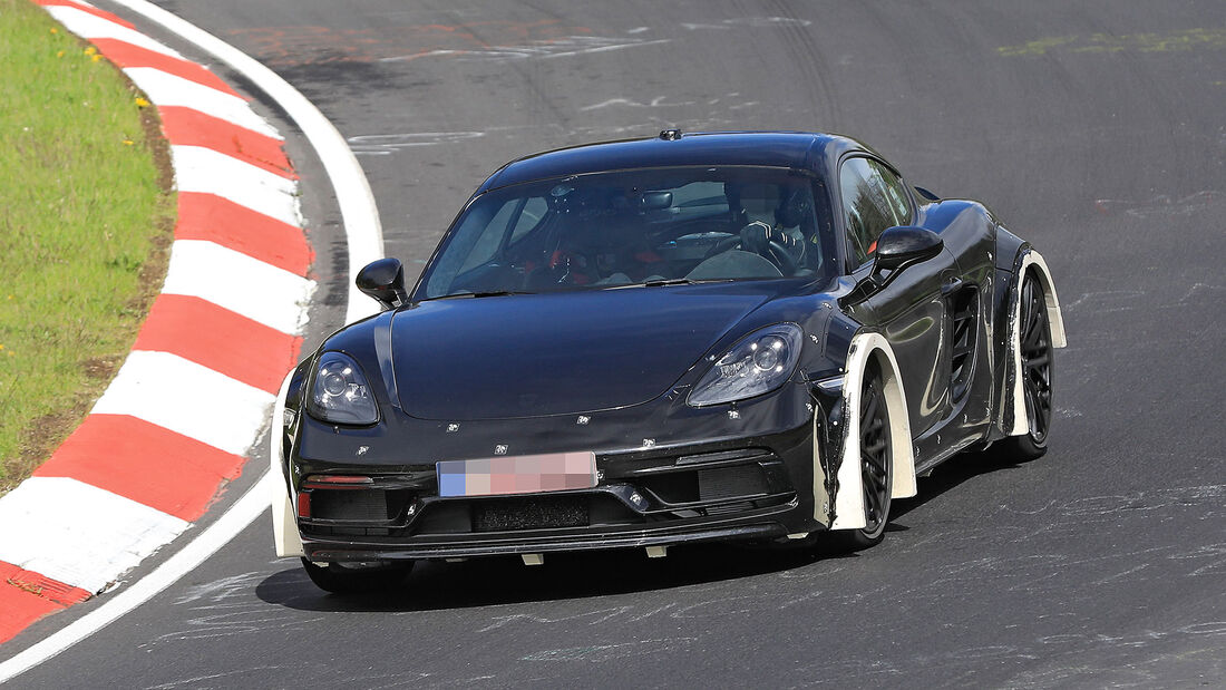 Porsche 718 Cayman Versuchsträger Erlkönig