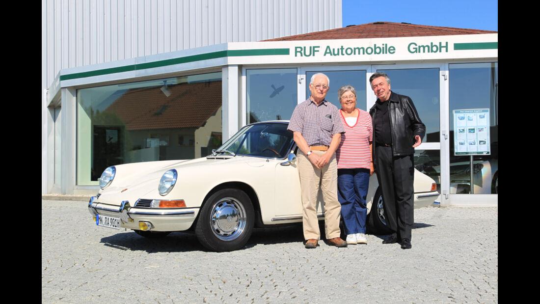 Porsche 901, Alois Ruf, Sorjo Renta mit Frau