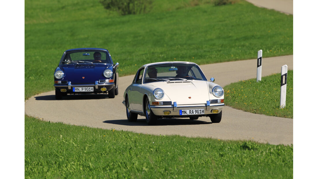 Porsche 901, Blau-Weiß-Vergleich