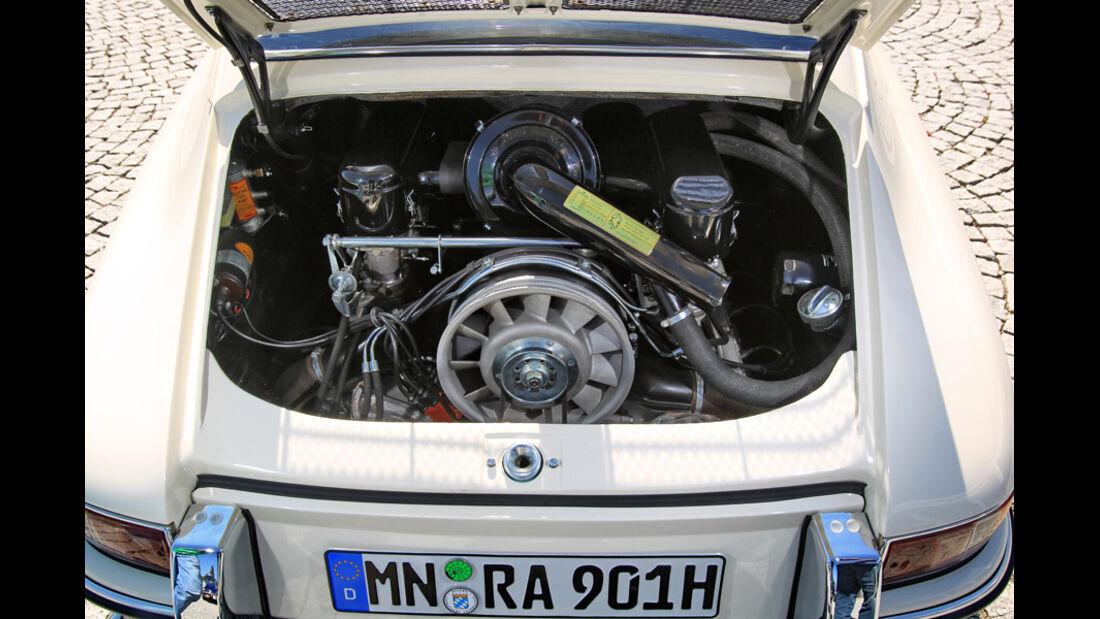 Porsche 901, Motorraum, Detail