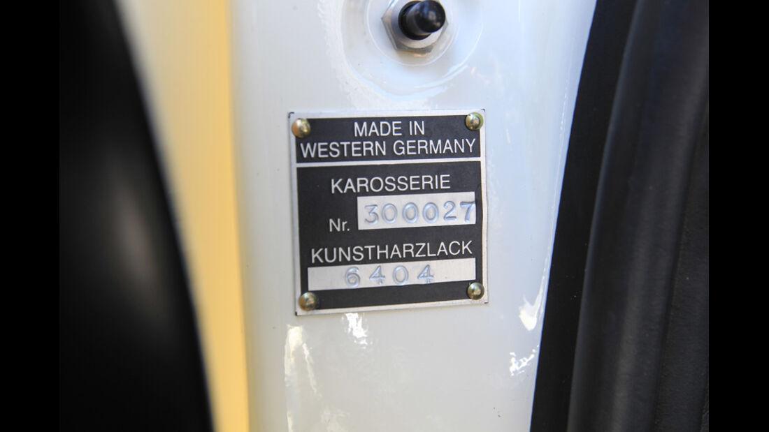 Porsche 901, Produktionsabzeichen, Detail