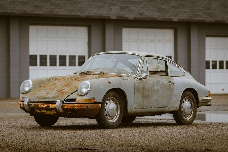 Porsche 911 (1965) Scheunenfund: Nach 40 Jahren aus Garage geholt