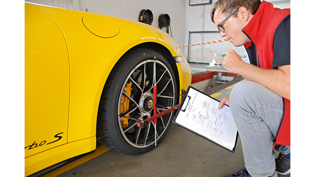 Porsche 911 991.2 Turbo S, Prüfstand