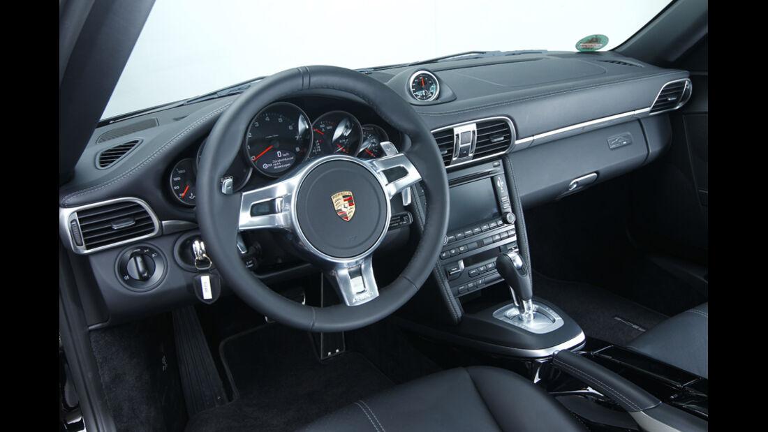 Porsche 911 Black Edition, Cockpit, Lenkrad