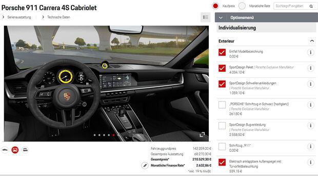 Porsche 911 Cabrio (992) Konfiguration