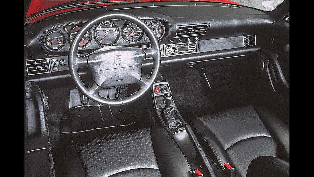 Porsche 911 Cabrio 993, Cockpit