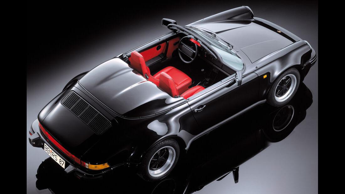 Porsche 911, Cabrio, von oben