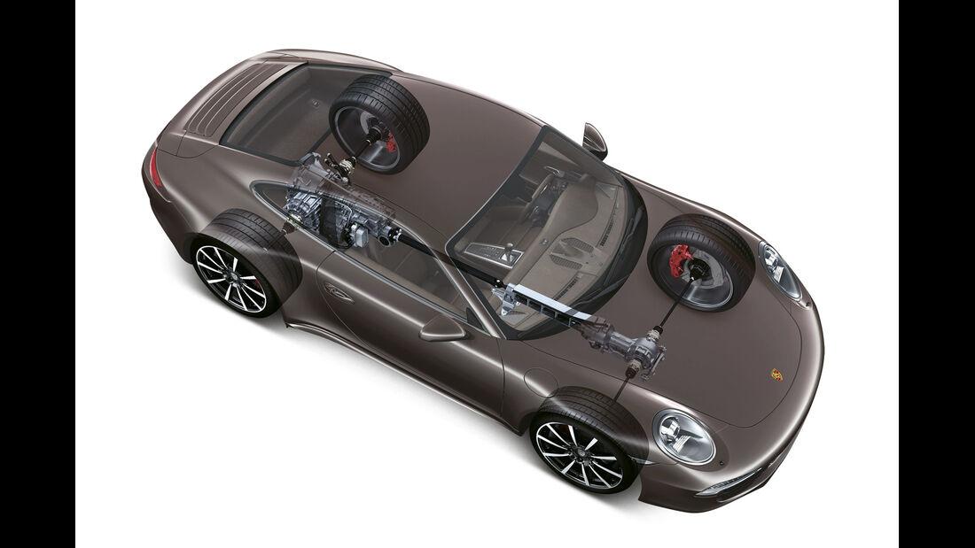 Porsche 911 Carrera 4, Allrad, Grafik