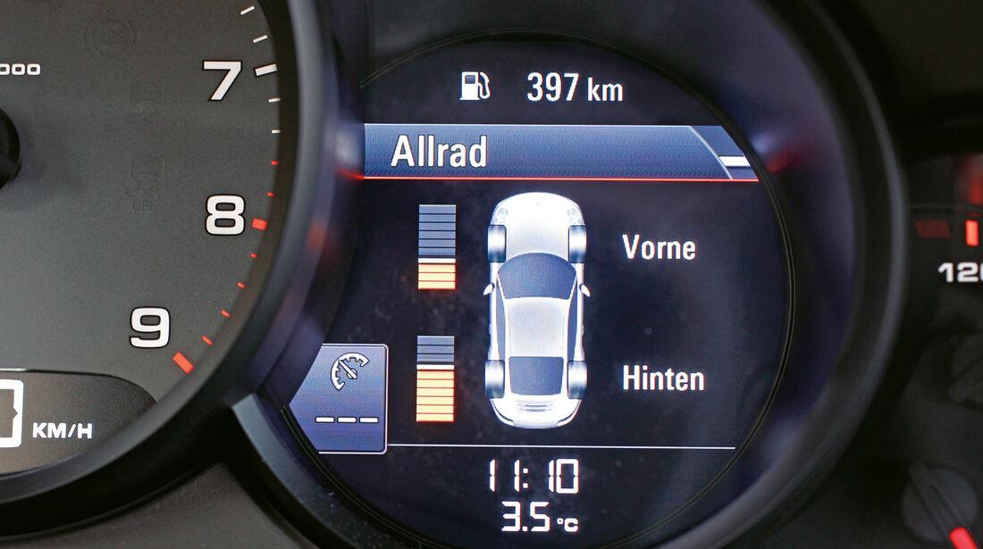 Porsche 911 Carrera 4, Anzeige, Bordcomputer