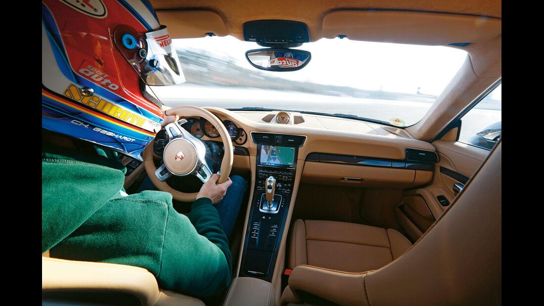 Porsche 911 Carrera 4, Cockpit, Fahrersicht