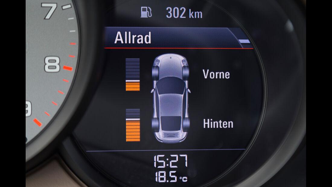Porsche 911 Carrera 4S, Achsverteilung