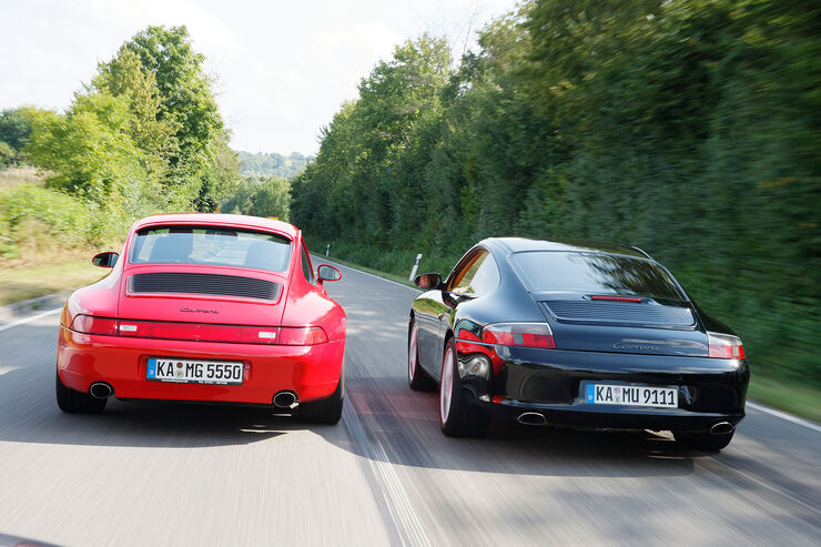 porsche 911 carrera 993 996 im fahrbericht auto motor und sport. Black Bedroom Furniture Sets. Home Design Ideas