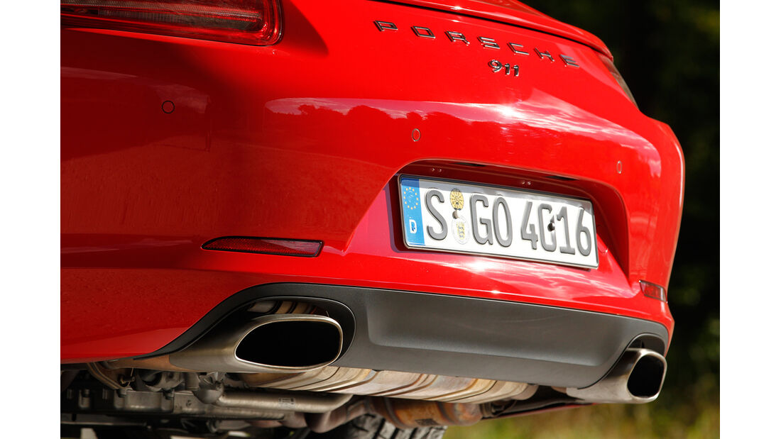 Porsche 911 Carrera, Auspuff, Endrohre