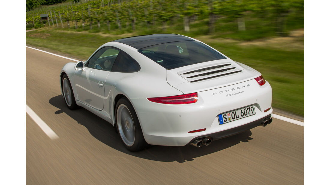 Porsche 911 Carrera Basisausführung, Heckansicht