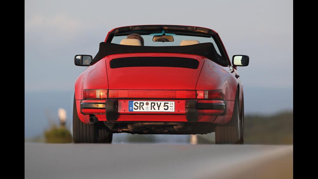 Porsche 911 Carrera Cabrio, Heckansicht