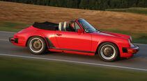Porsche 911 Carrera Cabrio, Seitenansicht, Walter Röhrl