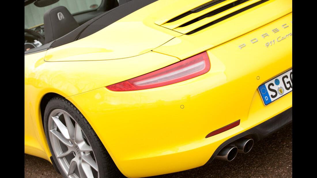 Porsche 911 Carrera Cabriolet, Heck, Heckleuchte