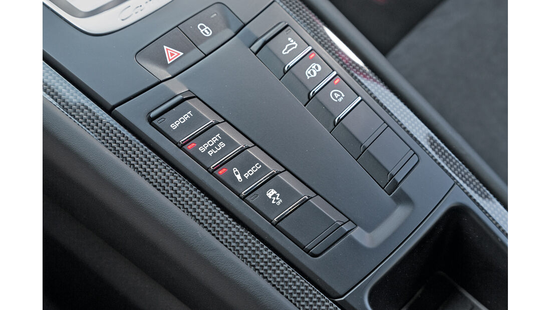 Porsche 911 Carrera GTS, Bedienelemente