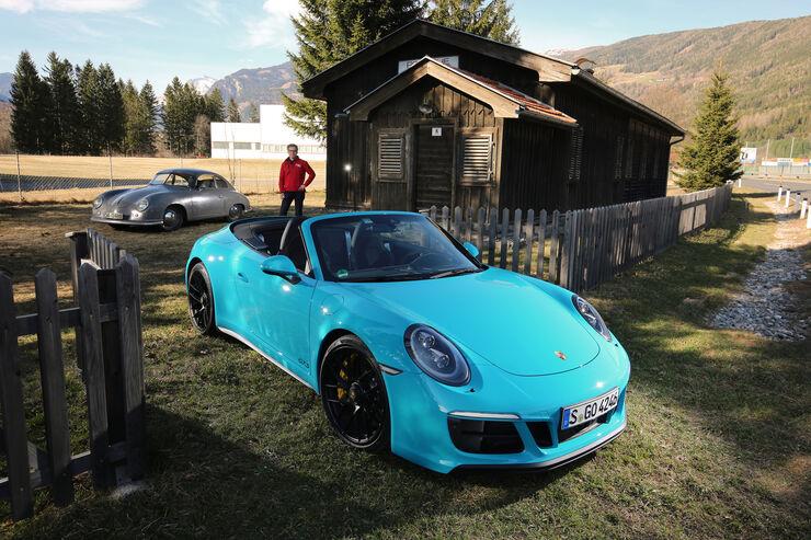 Porsche 911 Carrea GTS Cabrio auf dem Weg nach Gmünd ...