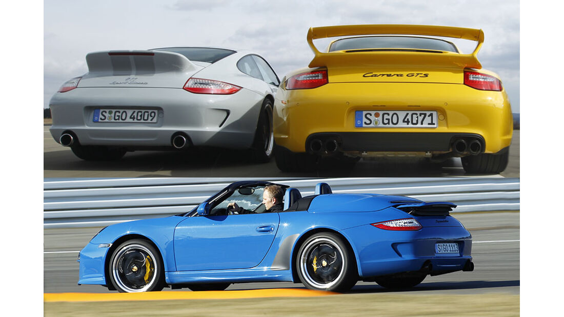 Porsche 911 Carrera GTS, Speedster, Sport Classic