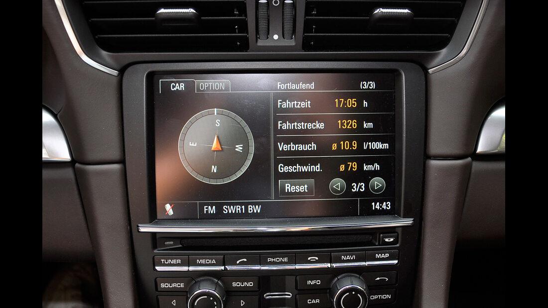 Porsche 911 Carrera, Mittelkonsole, Infotainmentsystem, Touchscreen